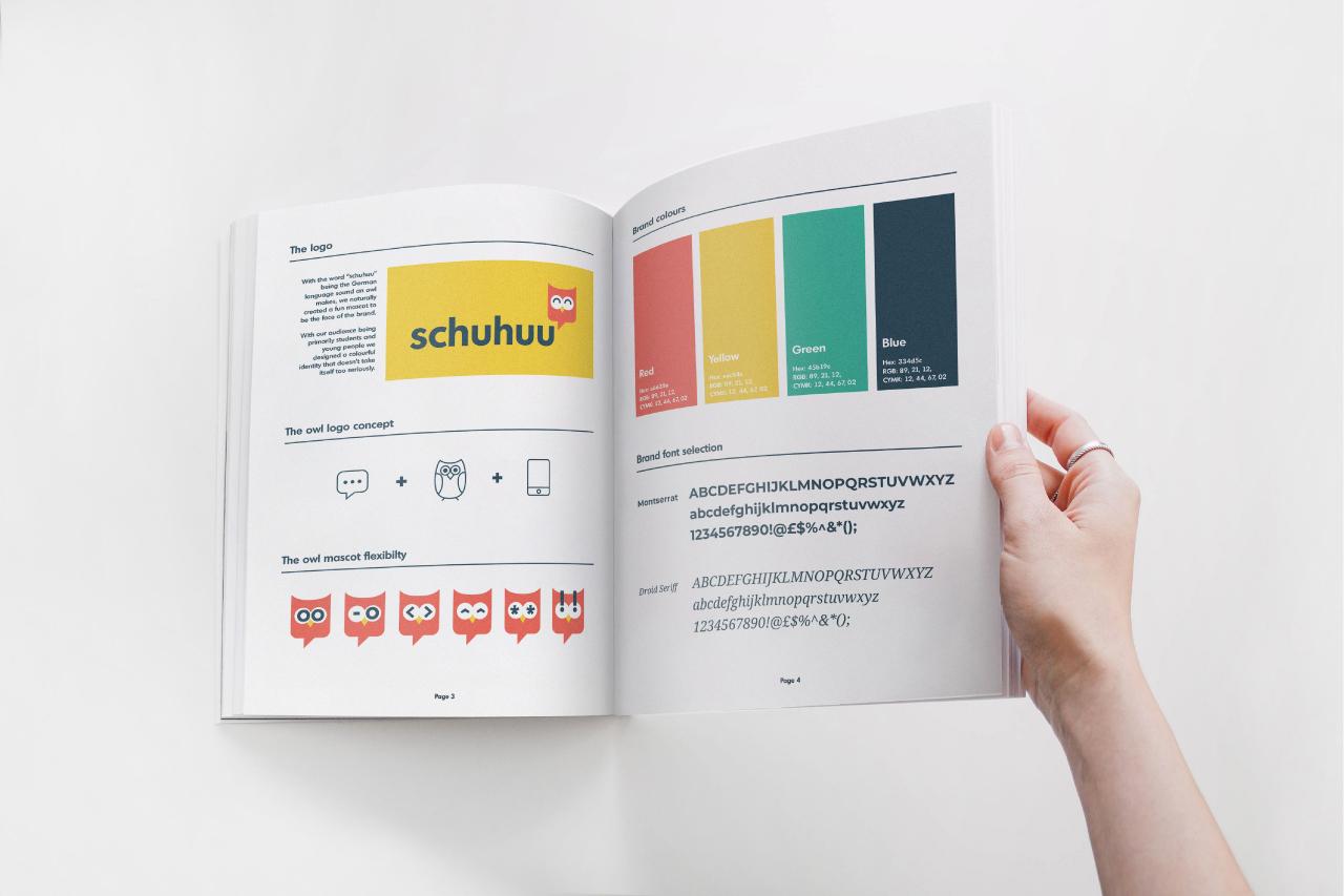 Schuhuu brand identity