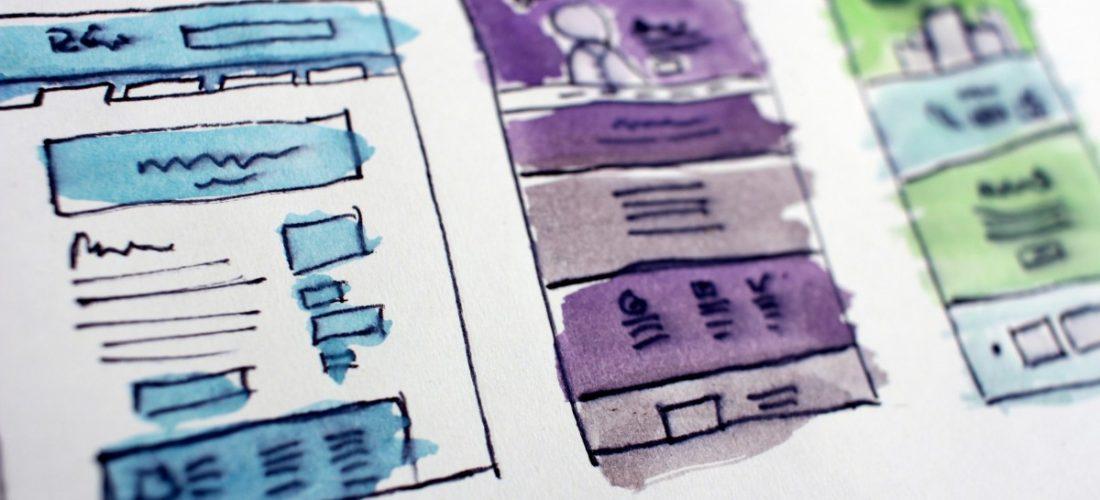 Mobile design mockups